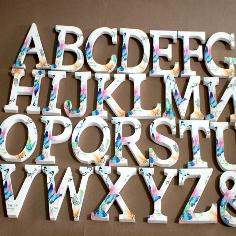 Us 8 0 25 Off Wooden Letters English Word Name Design Art Craft Standing Heart Shape Wedding Home Decor 18092107 In Decorative Letters Numbers