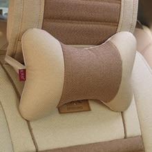 Assento de carro cabeça pescoço resto encosto de cabeça do carro qualidade linho respirável carro headrest suprimentos automóveis 2pcs