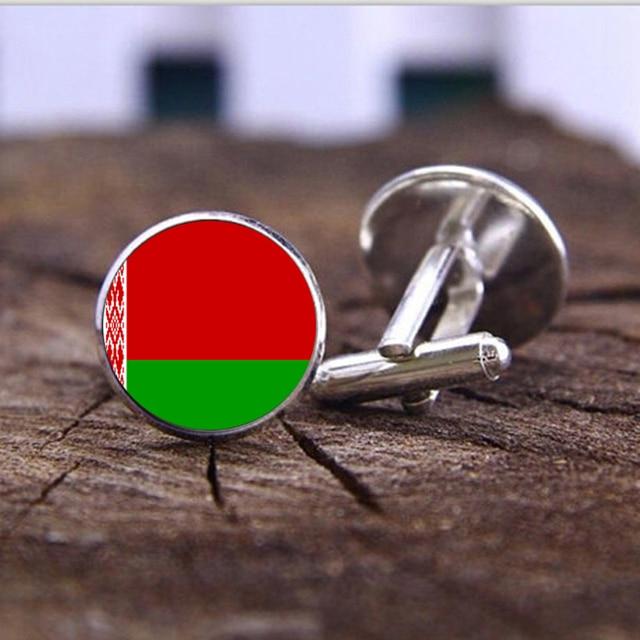 Suteyi 2017 Herrenmode Schmuck Flagge Von Belarus Manschettenknopfe