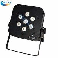 8PCS/lot Dmx Wireless 4in1 RGBW 7x10w LED Par Battery Uplight Lighting DJ DMX PAR Stage Lighting