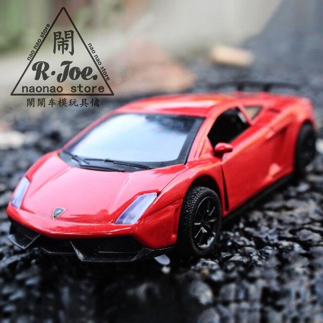 136 metal car models kids toys lanbogini lp570 super sports car children like the