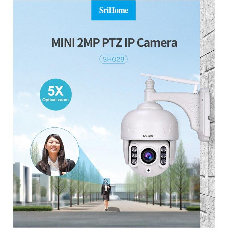 Sricam SH028 extérieur étanche HD 2.0MP 1080 P 5X Zoom dôme caméra P2P IP sans fil Surveillance CCTV caméra 360 degrés Wifi PTZ