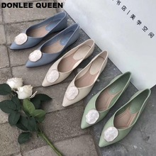 DONLEE QUEEN 2019 Brand Summer Flats Ballet Shoes Women Pointed Toe Shallow Ballerina Soft Moccasin Slip On Loafers Female