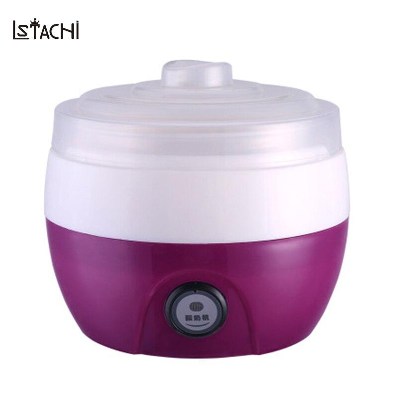 Appliances:  LSTACHi 1L Plastic Yogurt Maker Natto Rice Wine Fermentation Constant Temperature Full Automatic Machine in Kitchen Appliances - Martin's & Co