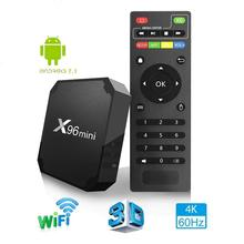X96 mini tv box WiFi android 7.1 2GB 16GB Amlogic 1GB 8GB S905W tvbox Quad Core WiFi Media Player smart Set-top tv Box X96mini a95x r1 android 7 1 tv box amlogic s905w 1gb 2gb 8gb 16gb smart tv box quad core 4k wifi media player pk x96 mini