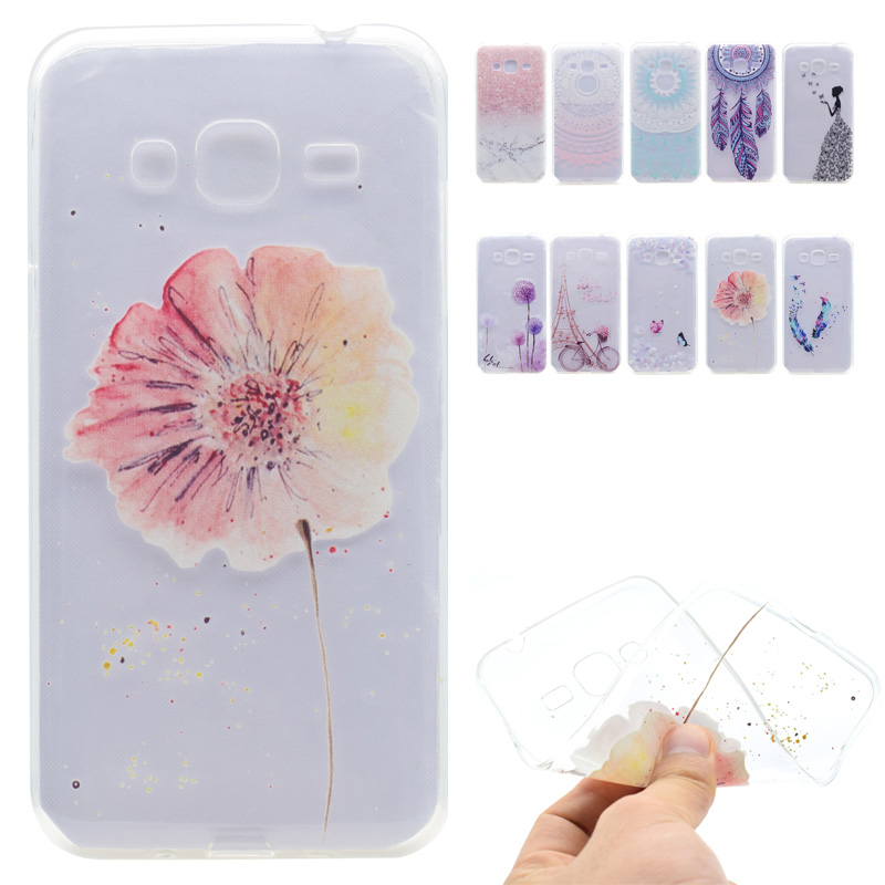 For Samsung Glaxy J3 2016 Case Silicone Luxury Soft TPU Transparent Cover For Samsung Galaxy J3