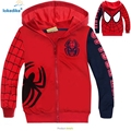 2017 Autumn Kids Clothes New Fashion Cotton Red Spider Man Boy Girl Children Outwear Coat Casual Outfits Unisex Clothes T1849