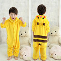 Child Girls Boys Onesies Pajamas Pokemon Pikachu Cosplay Costume Halloween Christmas Flaneel Fleece Winter Warm Pajama Pyjamas