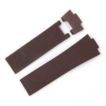 CARLYWET 25*12mm Wholesale Black Brown Blue Waterproof Silicone Rubber Replacement Wrist Watch Band Strap Belt For Ulysse Nardin