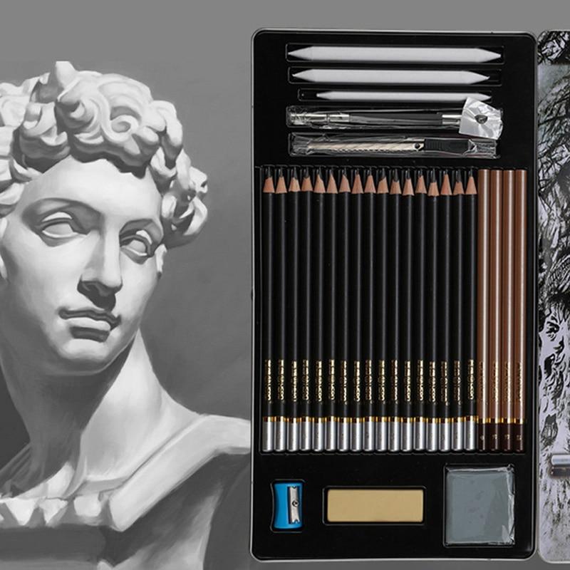 все цены на Vintage Drawing Pencils Set with Eraser Pencil Sharpener Safe Non-toxic Standard HB 2B 4B Painting Writing Stationery Pencils онлайн
