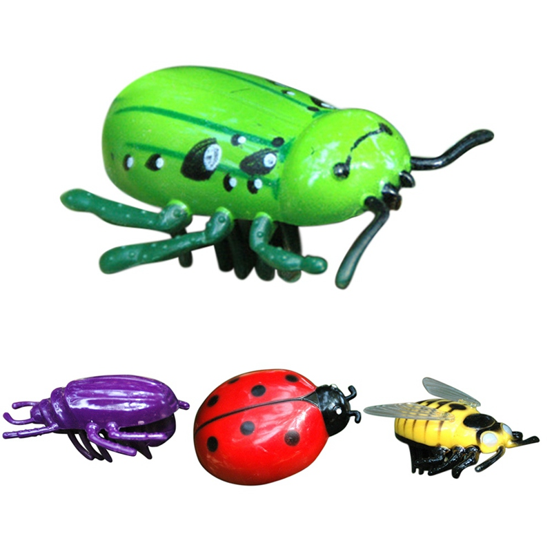2018 Simulation Animals Home Decor Insect Toys Gifts Electric Crawling Toy Electric Beetle Ladybug Ornaments Figurines