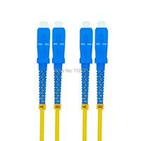 100Meters SC to SC Singlemode Duplex Optical Fiber Patch Cord Cable,SC/PC SC/PC,3.0mm SC SC 9/125 100M