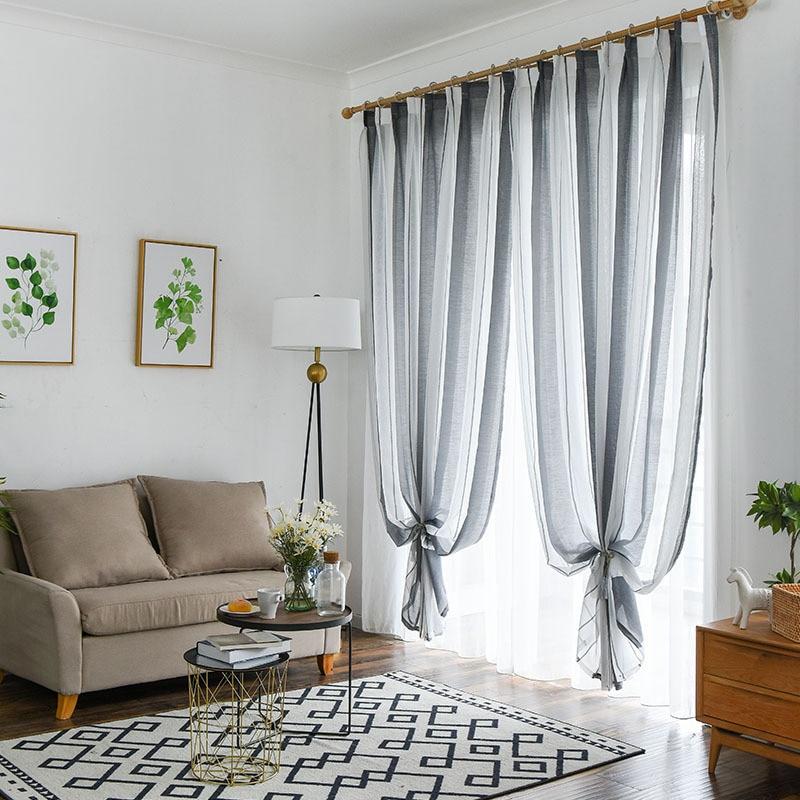 Byetee Modern Living Room Luxury Window Curtains Striped: Aliexpress.com : Buy Byetee Modern Strip Window Curtains