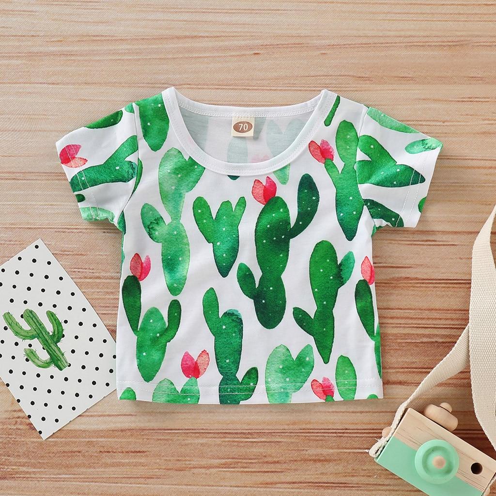2019 Cartoon Druck Baby Jungen Catus T Hemd Für Sommer Infant Kinder Jungen Mädchen T-shirts Kleidung Baumwolle Kleinkind Kinder Tops Kataloge Werden Auf Anfrage Verschickt
