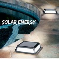 LED Güneş Enerjisi Gömülü Işıklar Açık Bahçe Parkı Kare Kulübe Konut Emlak Merdiven Çit Duvar Aydınlatma Su Geçirmez Lambalar