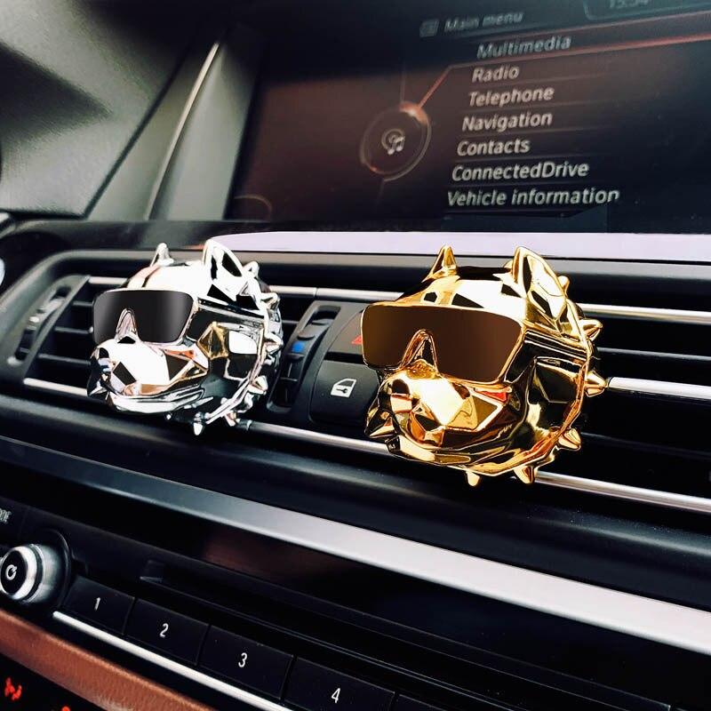Bulldog créatif désodorisant Voiture parfum Voiture décoration Auto Geur Clip Bulldog parfum parfum parfum Voiture Voiture diffuseur
