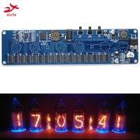 zirrfa Electronic DIY kit in14 in4 Nixie Tube digital LED clock gift circuit board kit PCBA, No tubes