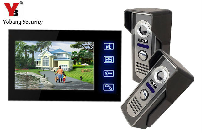 Yobang Security Yobang Security freeshipping  Touch Key 7 LCD Video Door Phone Intercom System Wth IR Camera electric doorbell