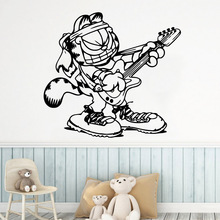 Cartoon Style tiger music Wall Art Decal Sticker Murals For Childrens Room Creative Stickers