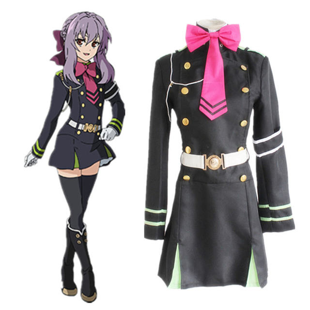 Japanese Anime Owari no Seraph Seraph of the end Cosplay Costume Hiragi Shinoa Uniform Halloween party cosplay costume