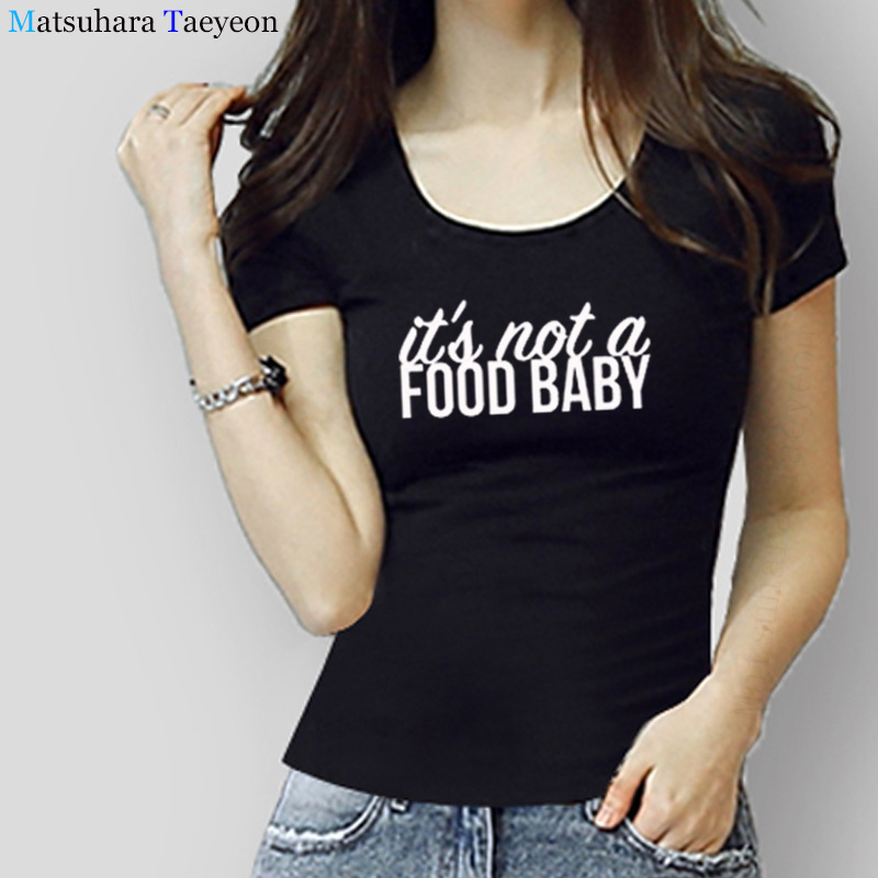 f70de759004d1 Womens Pregnancy Announcement T-Shirt - It's Not A Food Baby Funny Angel  Grunge Streetwear
