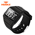 HOSKA Brand Digital Wristwatches Fashion watches Men's casual watch 50m water resistant  with Alarm/LED/Auto date