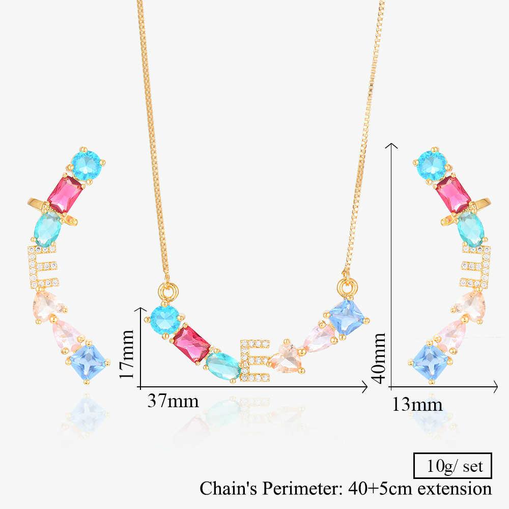 GODKI luxe goutte d'eau cubique Zircon nigérian collier boucles d'oreilles ensembles de bijoux pour les femmes de mariage indien Dubai ensembles de bijoux de mariée