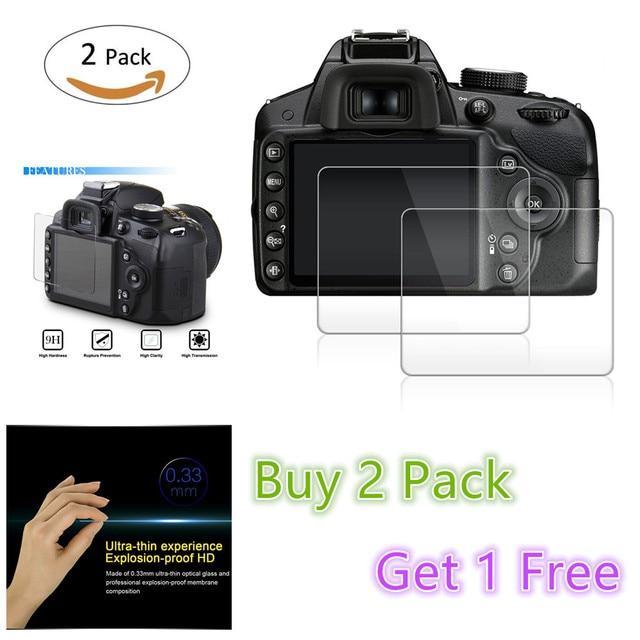 2 gói Tempered Glass Màn Hình LCD Protector cho Canon EOS RP R M100 M50 4000D 200D Rebel T100 SL2 SX70 HS/Sony A6400 HX99 HX95