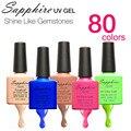 Sapphire Nail Gel Newest 80 Fashion UV Gel Polish 7.3 ML Soak Off Nail Led Gel Polish