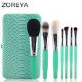 2016 Nueva llegada de la Marca ZOREYA 7 unids Animal Pinceles de Maquillaje de Alta gama de Maquillaje Cepillo Conjunto Como Herramienta Cosmética para La Belleza de Las Mujeres