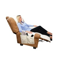 Sobakawa Snuggle Up Recliner Poly Fleece Comfort Chair Seat Cover Snuggle Up Polyfleece Recliner Cover Natural