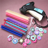 Scrapbooking Paper Tagger Mega Kit 03 Tag Attacher Tool 1700 Ball Point Tails 24 Buffy Flower