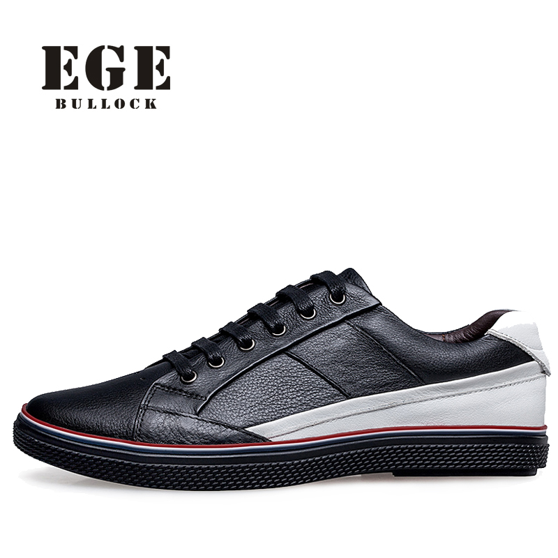 Men Causal Shoes Big New Fashion Lace-up Genuine Leather Male Loafers Casual Sewing Handmade High Quality Driving Shoes for Men