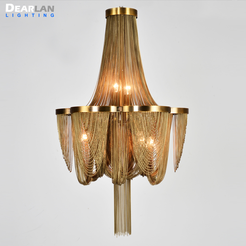 New Arrival Chandelier Light Post Chain Aluminum Suspension Light Hanging Drop Lustre for Living room Hotel Lights MD85219 in Chandeliers from Lights Lighting