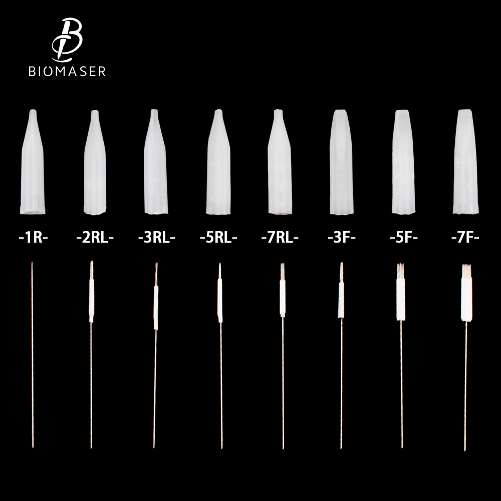100Pcs tattoo needles and 100pcs tips For Permanent Makeup Good Quality Traditional Tattoo Needles Independent Package