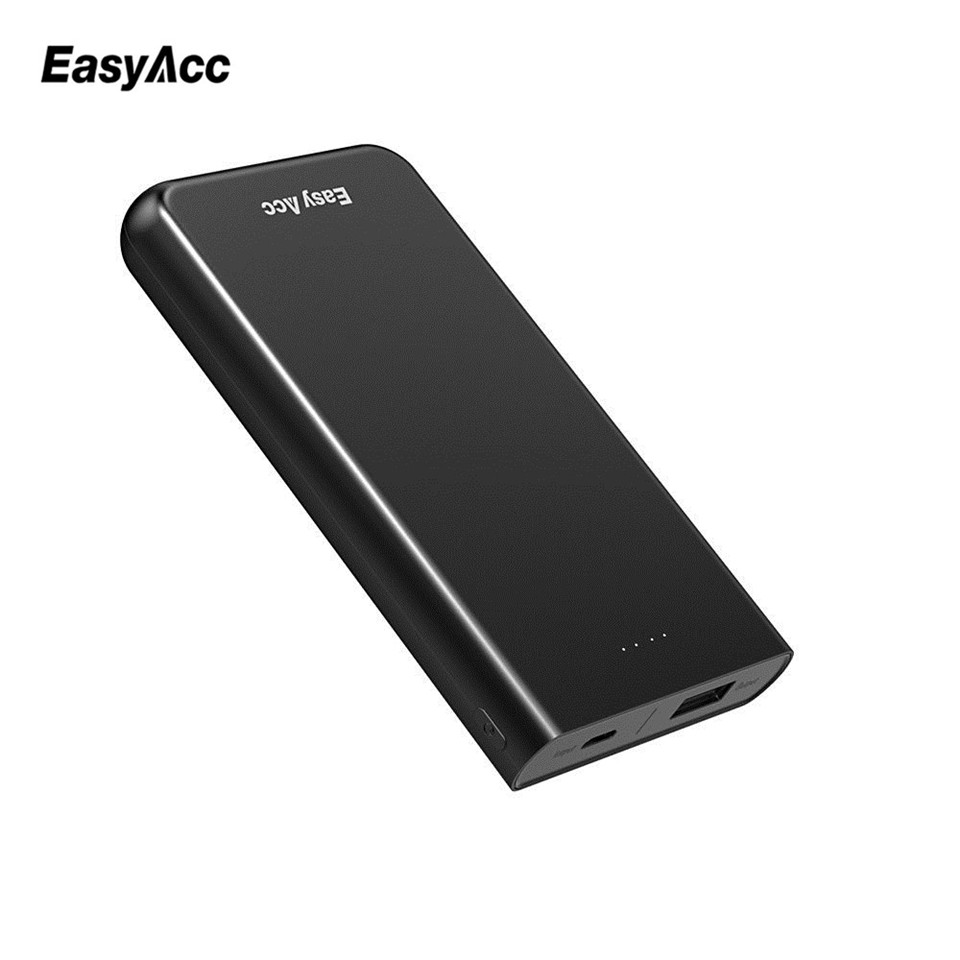 EasyAcc Ultra-Slim 10000mAh Power Bank Externt Batteri Snabbladdning för Iphone Xiaomi Huawei Power Bank