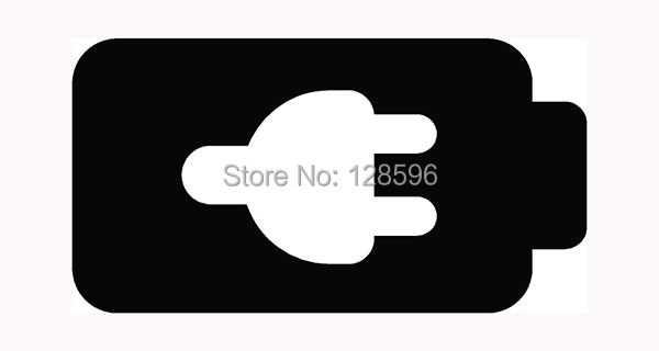 CHARGE BATTERY Sticker for Car Window Vinyl Decal Fun Dead Phone Charger Wall Batt