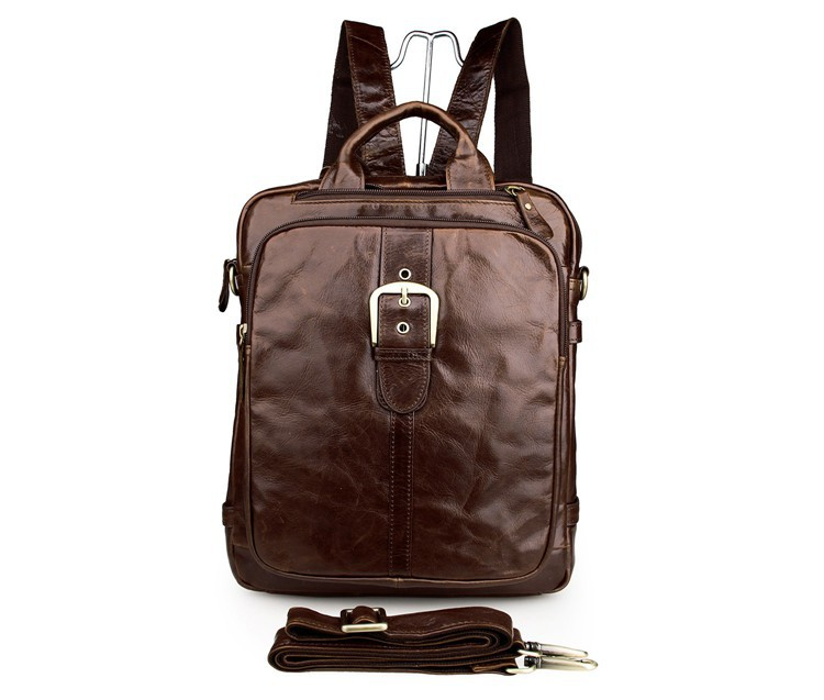 JMD 100% Genuine Cow Leather Laptop School Bags For Teenagers 7279C jmd genuine cow leather mens laptop backpack for student school backpacks 7347c