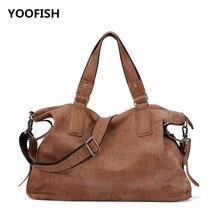 купить YOOFISH Free Shipping Hot selling Classic Vintage Genuine Leatherr Men Black/Brown/Coffee Handbag Shoulder bag Crossbody bag недорого