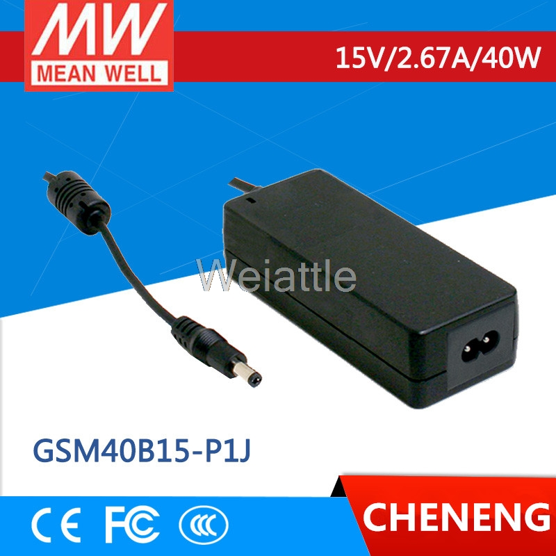 MEAN WELL original GSM40B15-P1J 15V 2.67A meanwell GSM40B 15V 40W AC-DC High Reliability Medical Adaptor selling hot mean well gsm40b12 p1j 12v 3 34a meanwell gsm40b 12v 40w ac dc high reliability medical adaptor