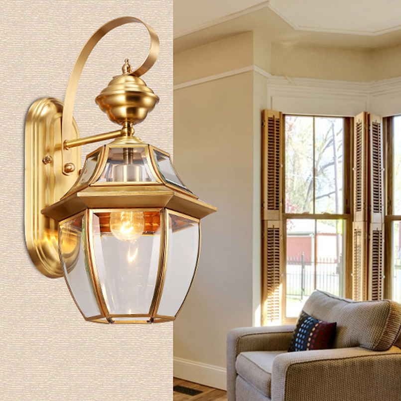 antique bronze wall sconce gold color hotel wall lamps ... on Modern Outdoor Sconce Lights id=75293