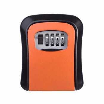 Outdoor Safe Key Box Storage Organizer With 4 Digit Wall Mounted Combination Password Keys Hook Boxes