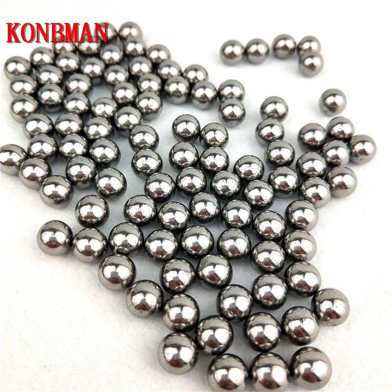 100 pièces/lot 6mm 7mm 8mm acier balles fronde chasse haute teneur en carbone acier fronde balles catapulte fronde frapper munitions acier