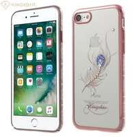 KINGXBAR For Apple IPhone 8 7 Hard Cases Luxury Girl Bag Crystal PC Case For IPhone