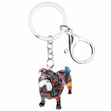 Fashionable pug keychain  for women bag and car key