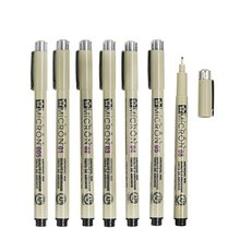 7 pcs/Lot Sakura Pigma Micron needle for drawing sketch cartoon archival ink gel pen Stationery Animation Art supplies A6922(China)