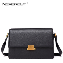 NeverOut Retro Hardware Women Handbags Solid Shoulder Sac Genuine Leather Crossbody Bags Lady Bag Fashion Small Messenger Bag