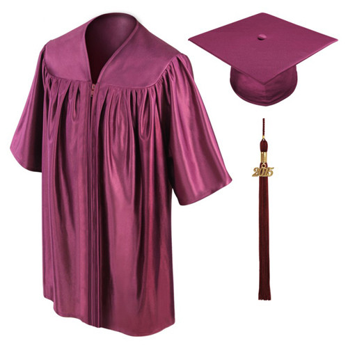 Shiny Maroon Preschool Graduation Gowns-Be.Fore