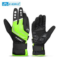 969 Green-INBIKE Touch Screen WinterWindproof Warm Full Finger Cycling Gloves