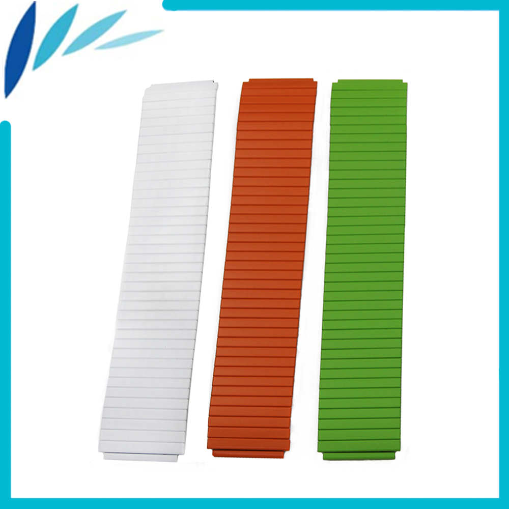 Stainless Steel Watch Band 26mm for Garmin Fenix 3 / HR Elastic Strap Loop Wrist Expansion Belt Bracelet White Orange Green